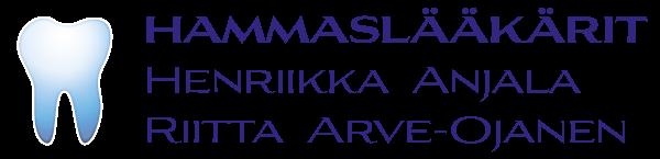 Hammaslääkärit Henriikka Anjala ja Riitta Arve-Ojanen logo